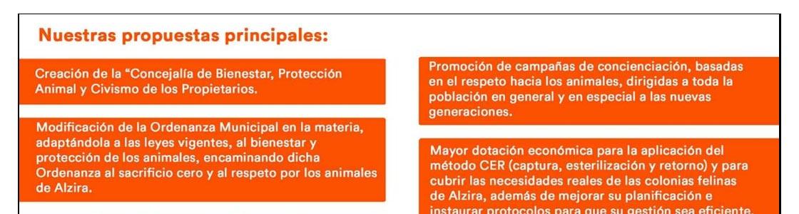 ciudadanos regidoria benestar animal - Alzira Radio notícies d'Alzira
