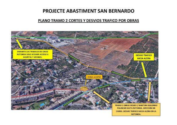 Comencen les obres en el subministrament d'aigües en la urbanització San Bernat
