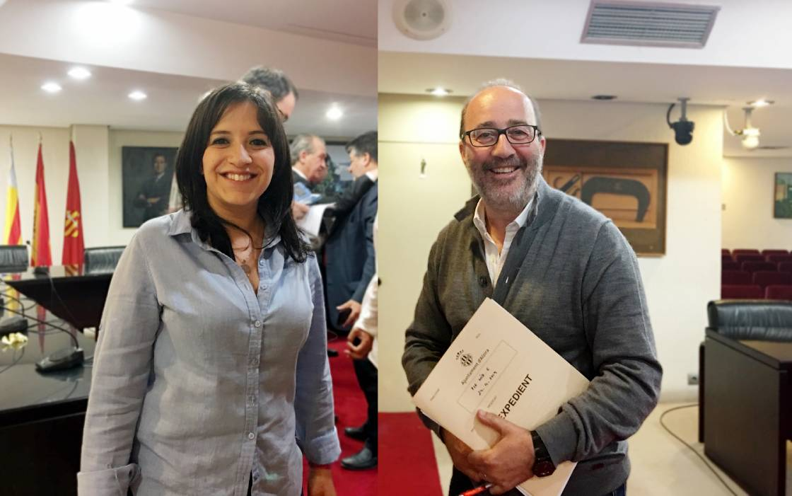 isabel aguilar diego gomez pactes alzira - Alzira Radio notícies d'Alzira