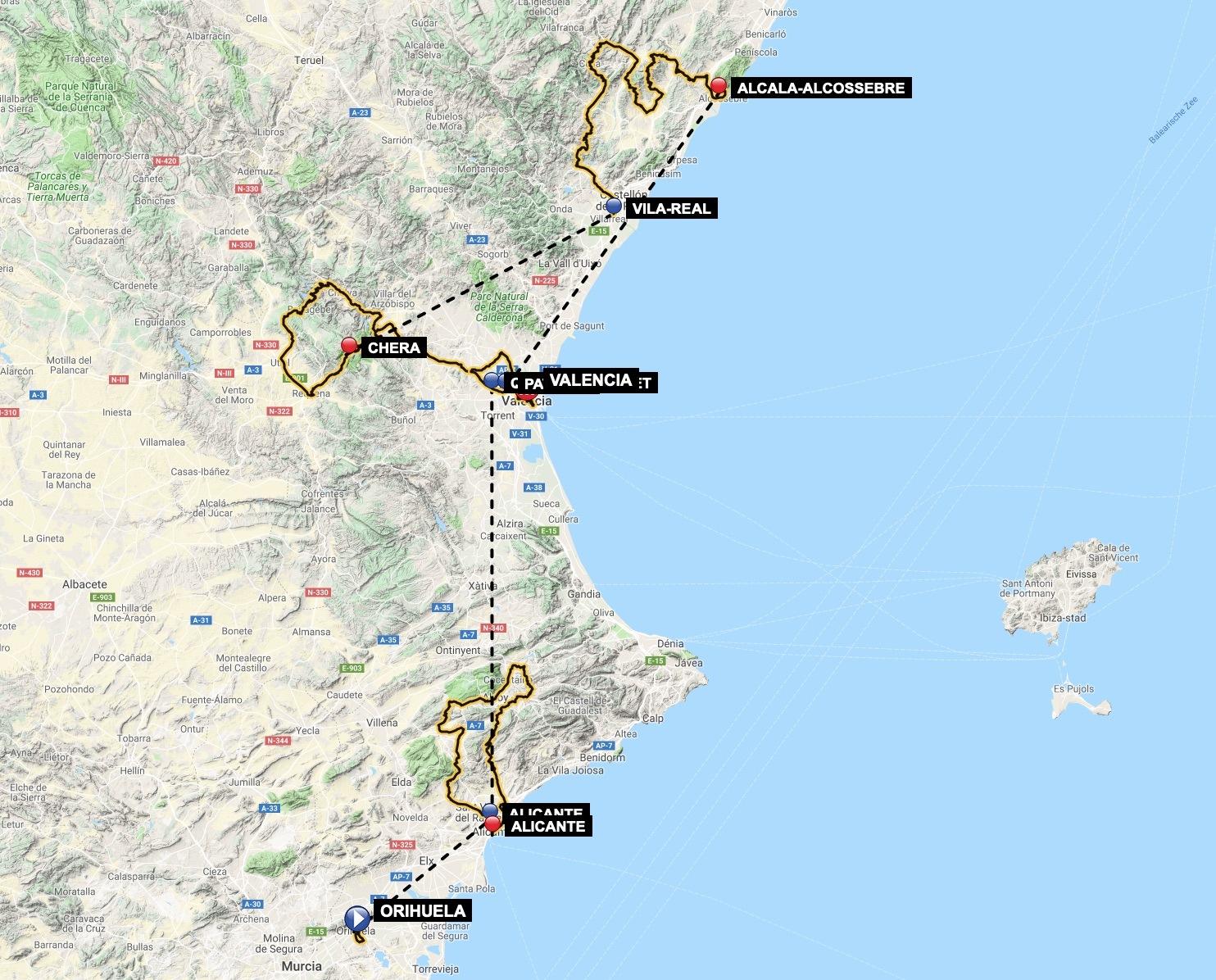 vuelta a la comunidad valenciana 2019 map ca754d1680 - Alzira Radio notícies d'Alzira