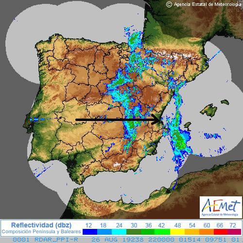 mapa oratge matinada 27 agost - Alzira Radio notícies d'Alzira