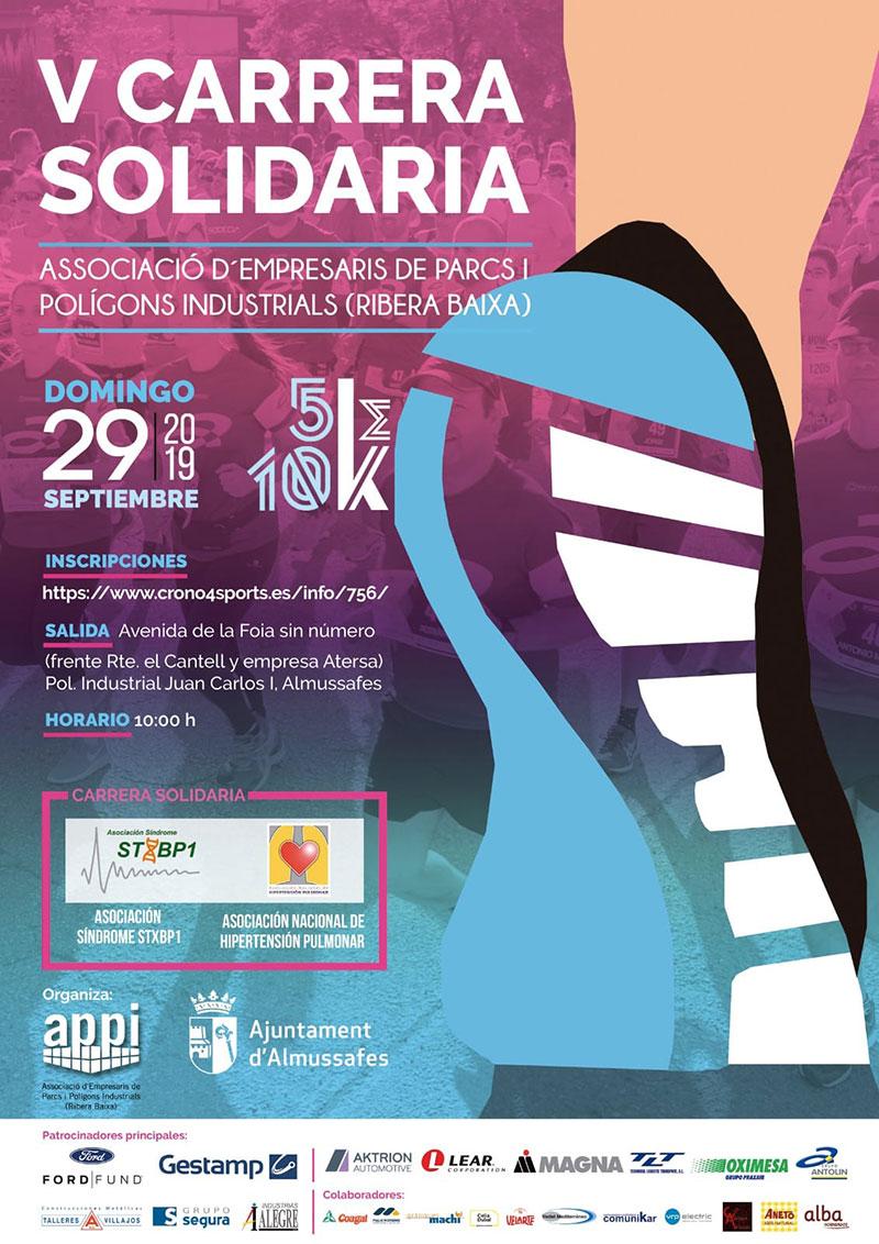 Cartel V Carrera Solidaria - Alzira Radio notícies d'Alzira