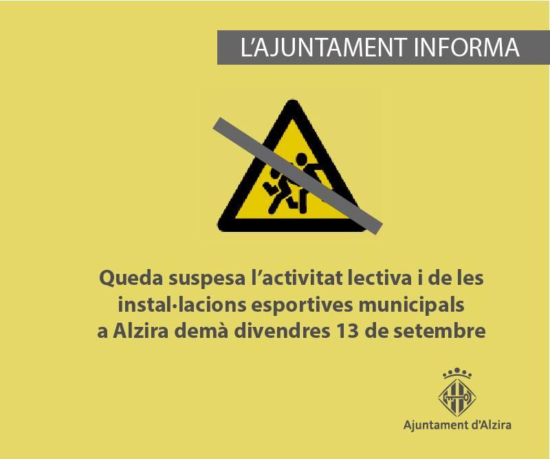 classes suspeses - Alzira Radio notícies d'Alzira