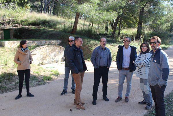 El director general de Prevenció d'Incendis Forestals visita els treballs dels tallafocs i la pista forestal