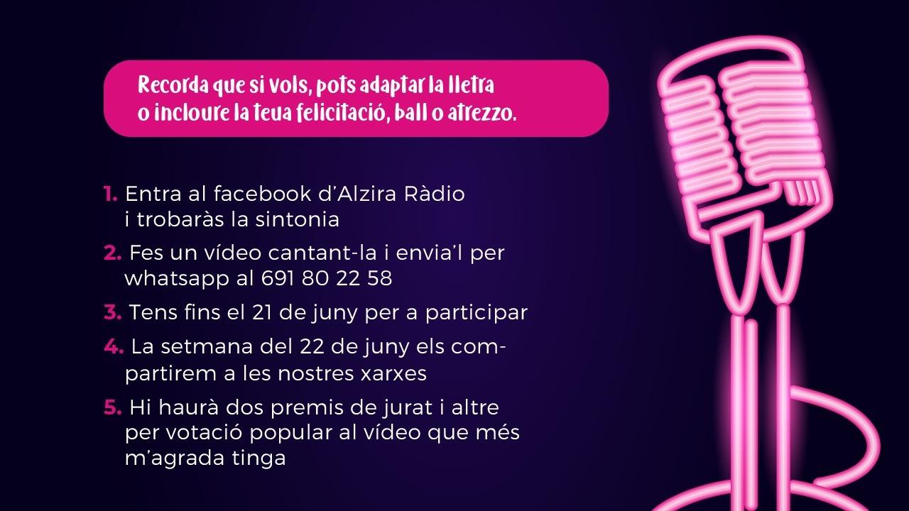 Instruccions concurs sintonia Alzira Ràdio 2 - Alzira Radio notícies d'Alzira