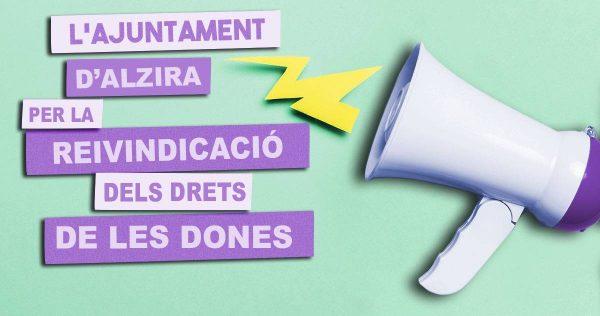 L'Ajuntament d'Alzira commemora el Dia Internacional pels Drets de les Dones amb els comerços i els centres educatius